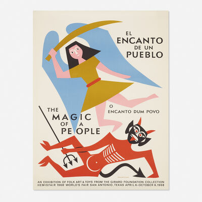 Alexander Girard, 'The Magic of a People poster', 1968
