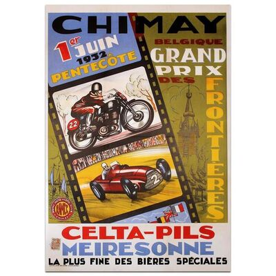 Event Poster, 'Chimay 1952 Grand Prix des Frontières', 1952