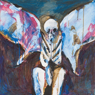 Fritz Scholder, 'Possession with Blue Wings', 1989
