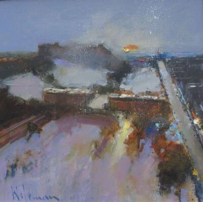 Peter Wileman, 'Edinburgh Castle and Princes Street, Winter', 2018
