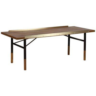 Finn Juhl, 'Finn Juhl Table Bench Teak, Brass, 1953', Contemporary