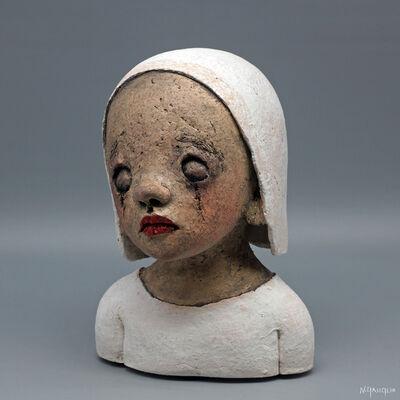 Nathalie Gauglin, 'N°497 Petit buste jeune fille yeux clos', 2021