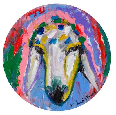 Menashe Kadishman, 'Menashe Kadishman, Sheep Head, 20', 1980-1990