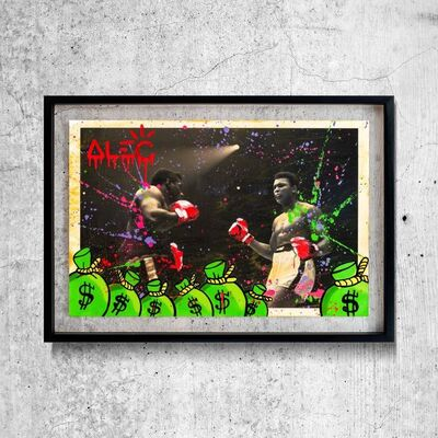 Alec Monopoly, 'Ali boxing BW 10', 2020