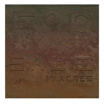 Ed Ruscha, 'For Sale 17 Acres, from Rusty Signs', 2014