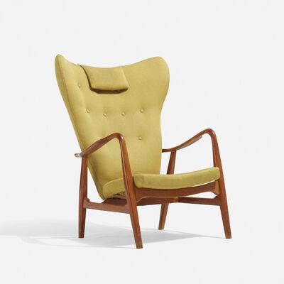 Acton Schubel, 'wingback armchair', c. 1955