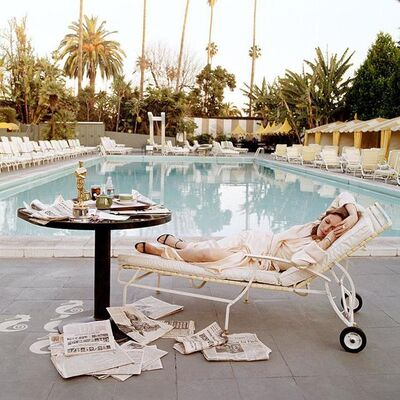 Terry O'Neill, 'Faye Dunaway 'The Morning After' at Beverly Hills Hotel ', 1978