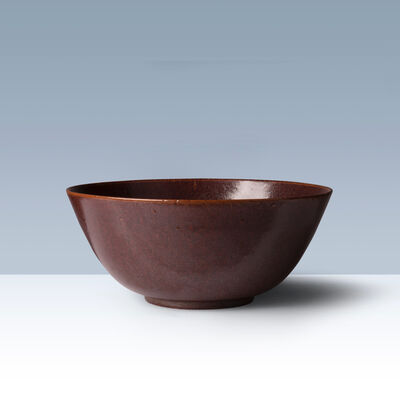 Kähler, 'Oxblood coloured stoneware bowl', 1950-1960