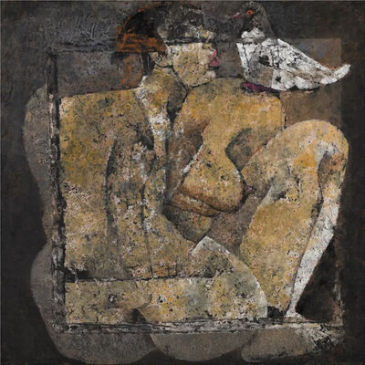 Jamil Naqsh, 'Seated Nude with Pigeon', 2008-2009