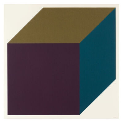 Sol LeWitt, 'Forms Derived from a Cube (Colors Superimposed) 1', 1991