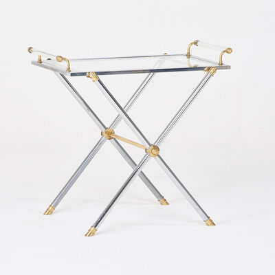 Style of John Vesey, 'Campaign side/drink table', 1950s