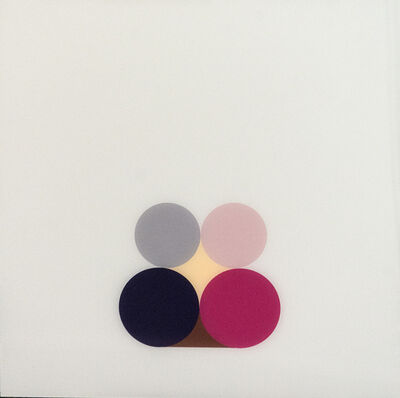 David Cantine, 'Violet Still Life 3 - bright, geometric post-minimalist, acrylic on plexiglass', 2003