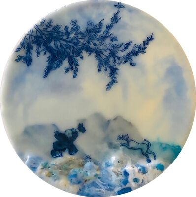 Cecile Chong, 'Back Off (in Blue)', 2019