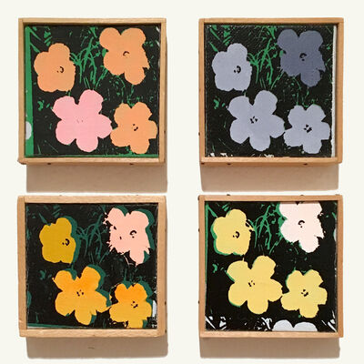 "Richard Pettibone, 'Suite of 4 ""Andy Warhol Flowers"" Appropriations', 1971"
