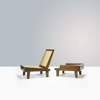 Pierre Jeanneret, 'PJ-SI-61-A, A pair of', ca. 1960