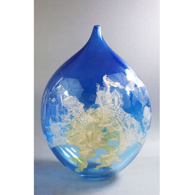 "David Thai, 'Atlas Vase 14"" Blue', 2019"