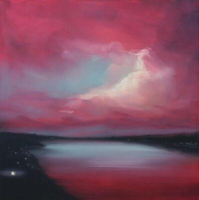 Sigrid Nienstedt, 'Bucht, Rot und Türkis', 2019