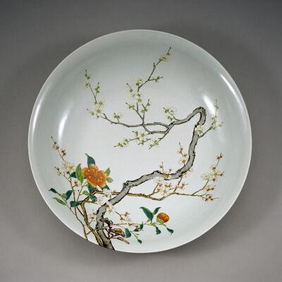 'Dish with Flowering Prunus', 1723-1735