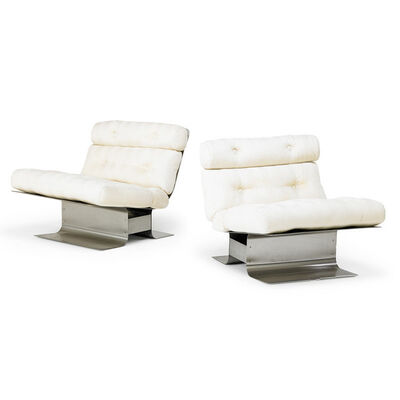 Francois Monnet, 'Pair of lounge chairs, France', 1970s