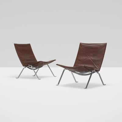 Poul Kjærholm, 'Pk 22 Lounge Chairs, Pair', 1956