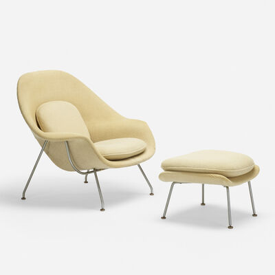 Eero Saarinen, 'Womb chair and ottoman', 1946