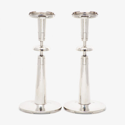 Tommi Parzinger, 'Rare pair of candlesticks, New York'