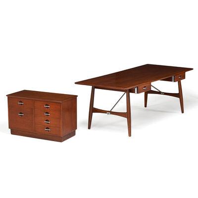 Hans Jørgensen Wegner, 'Desk And Cabinet, Denmark', 1950s