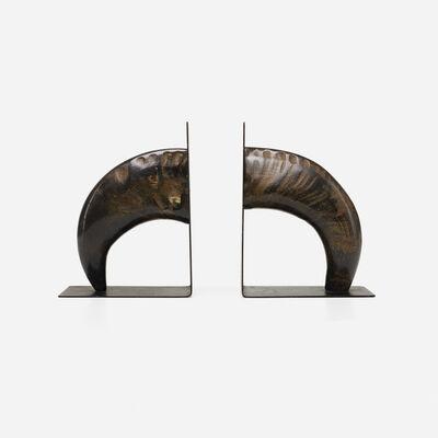 Carl Aubock III, 'bookends model 4773, pair', 1958