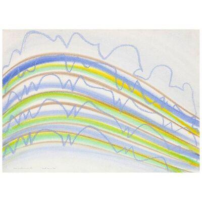 KM Graham, 'Dorset Lines in Blue', 1975
