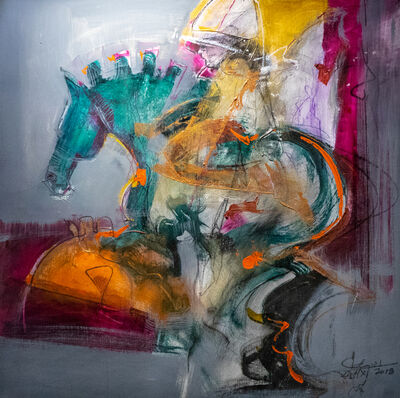 Eduardo Agelvis, 'Equus I Green', 2018
