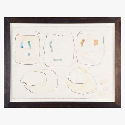 Dale Chihuly, 'Dale Chihuly Cylinders and Baskets Mixed Media Signed Original Drawing Contemporary Art', 1980