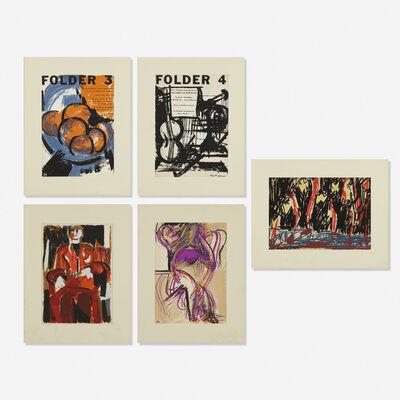 Grace Hartigan, 'Five prints from Folder magazine'