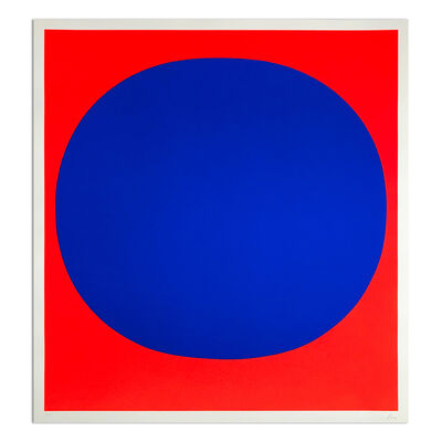 Rupprecht Geiger, 'Blue on Red', 1969