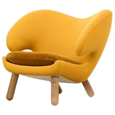 Finn Juhl, 'Finn Juhl Red Pelican Chair Yellow Kvadrat Vidar Body, Kvadrat Haakon, Walnut', Contemporary