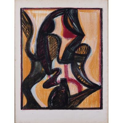 Jean-Michel Atlan, 'Composition fond jaune', Circa 1960