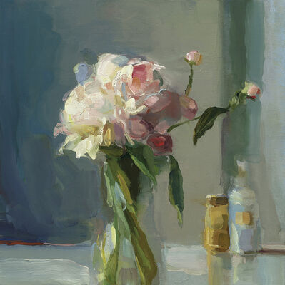 Christine Lafuente, 'Peonies and Bottles', 2018