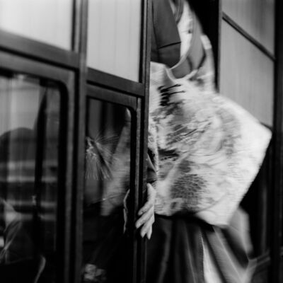 Toshio Enomoto, '078-New Year ceremony, Kabuki Renshujo Theater, Shimabara', 1983