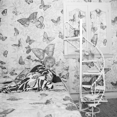 Meryl Meisler, 'Butterfly Bedroom Telephone, East Meadow, NY. June 1975', 1975