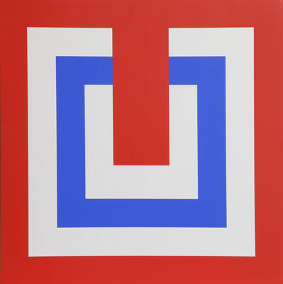 Bob Bonies, 'Composition Red and Blue II', 1970