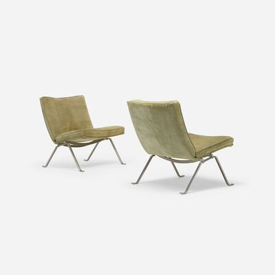 Poul Kjærholm, 'PK 22 lounge chairs, pair', 1956
