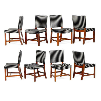 Kaare Klint, 'Eight Barcelona Chairs, Denmark', 1920s