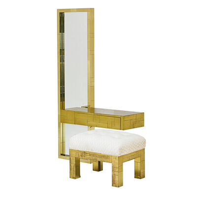Paul Evans, 'Cityscape Wall-Hanging Mirror, Console Shelf, And Bench (Pe-232 233 And 244), USA', 1970s