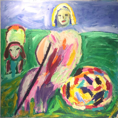 Menashe Kadishman, 'Shepherdess', ca. 1980