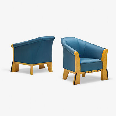 Michael Graves (1934-2015), 'Pair of lounge chairs, USA', 1980