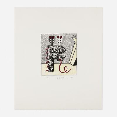 Roy Lichtenstein, 'Figure with Teepee', 1980