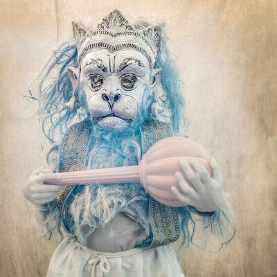 Nevada Wier, 'India. Assam. Majuli Island. Young Hanuman Performer. Ramayana. ', 2018