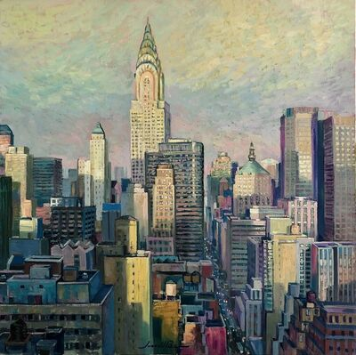 Juan del Pozo, 'Manhattan Afternoon II - contemporary cityscape painting', 2020