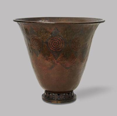 Claudius Linossier, 'Dinanderie vase in flared form', ca. 1925
