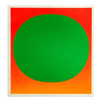 Rupprecht Geiger, 'Green on Orange', 1969