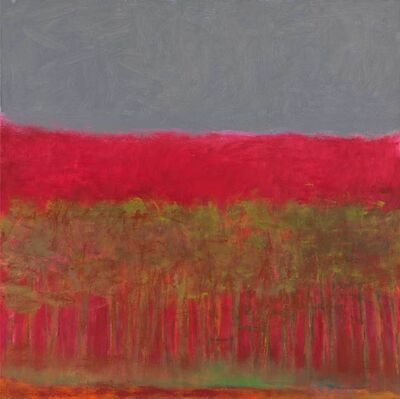 Wolf Kahn, 'Red Tree Square', 2009